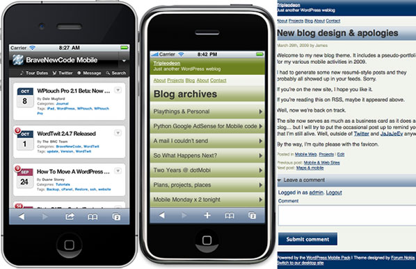 cara membuat versi mobile di wordpress
