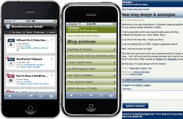 cara membuat versi mobile di wordpress