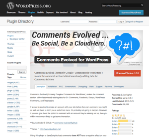 Berkomentar dengan Plugin Comments Evolved