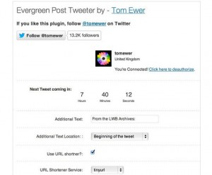 Plugin Evergreen Post Tweeter